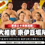 平成秋巡業 大相撲を東伊豆町で楽しめます